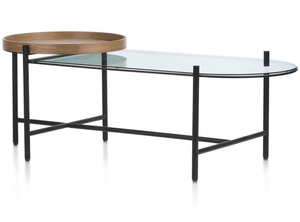 Table basse tendance en bois et métal