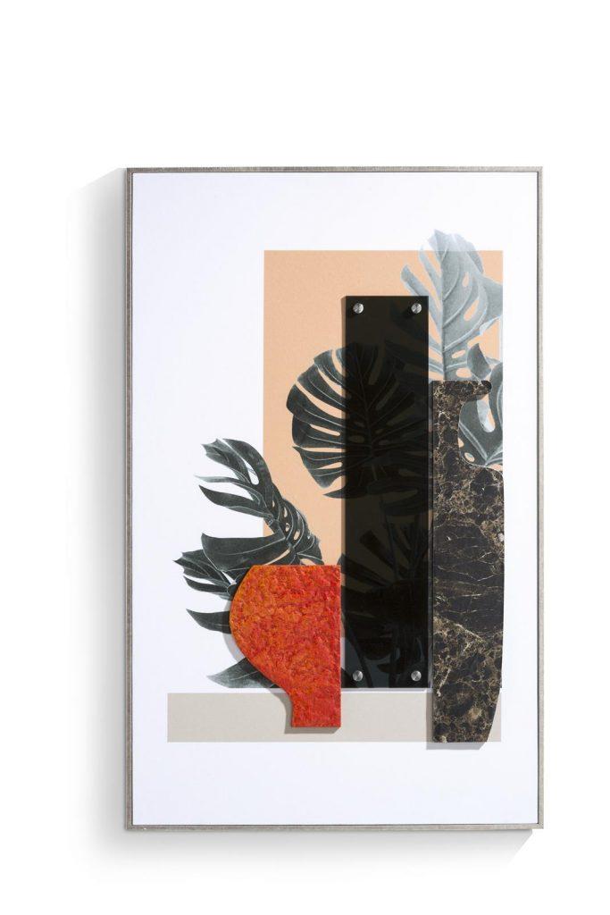 Tableau imprimé sur toile orange design contemporain