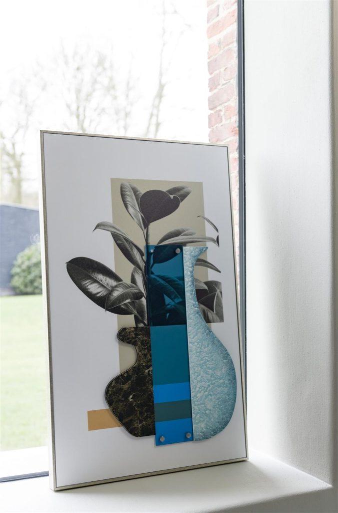 Tableau imprimé sur toile bleu design contemporain